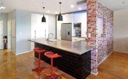 Parnell Apartment Kitchen Mixes Old with New