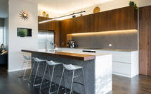 Takapuna Kitchen textures and tones so chic