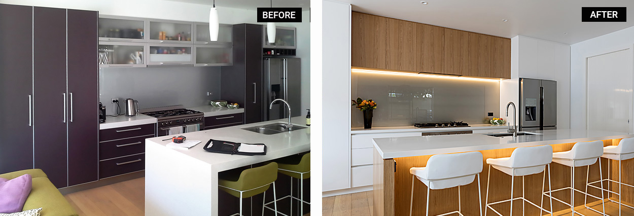 Kitchen Remodel Before and After Photos Show Transformation ...