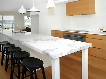 THUMB kitchen neo design custom renovation oak marble tiles