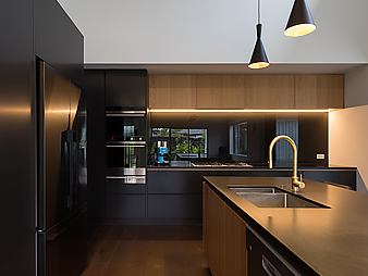Designer kitchen colour statement