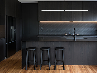 THUMB-Neo Design custom kitchen black veneer minimalist herne bay auckland