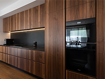 THUMB Neo Design custom designer kitchen Black walnut mt eden Auckland-2