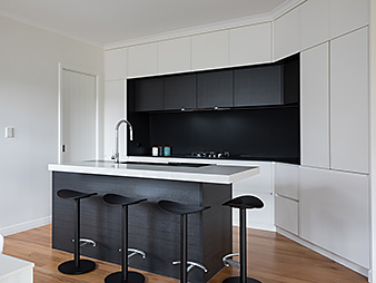 THUMB Kitchen neo design custom designer renovation black white stone benchtop auckland