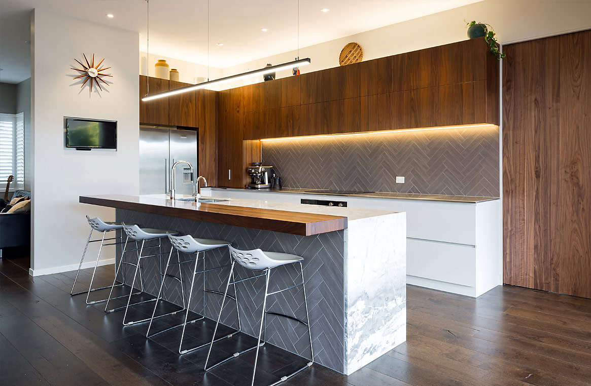Takapuna Kitchen Textures And Tones Are The Essence Of Chic