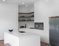 Neo Design custom kitchen villa renovation white on white Auckland