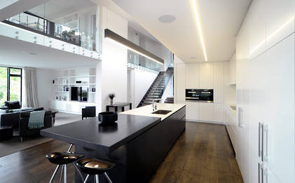 Designer Kitchen Hub Of Open Plan Home Kitchens Residential Interiors Neo Design